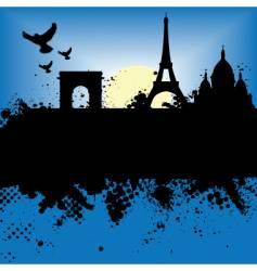 paris scene vector image