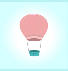 pink balloon in the sky vector image vector image