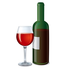 red wine bottle vector image vector image