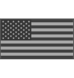 US flag grey vector image vector image
