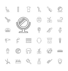 33 hair icons vector