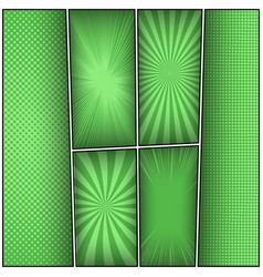 abstract green frames composition vector image
