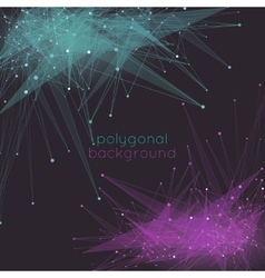 Abstract mesh background with poly shapes vector image