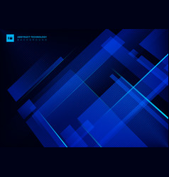 Abstract technology concept blue geometric vector