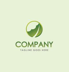Aloe vera logo herb leaf vector