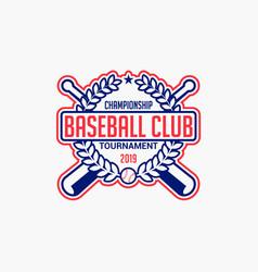 baseball logo badge-12 vector image