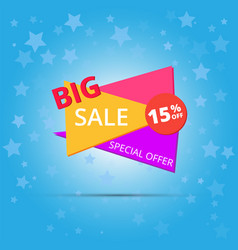 Big sale poster banner big sale clearance vector