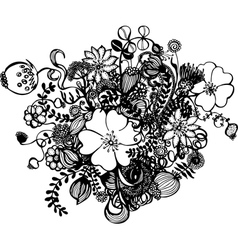 Black and white flowers royalty free vector image mightylinksfo
