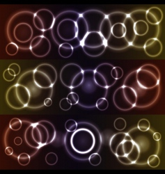 bokeh glowing circles vector image
