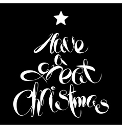 Christmas Lettering Tree vector image