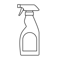 Cleaning bottle spray icon outline style vector