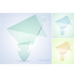collect glass arrow vector image