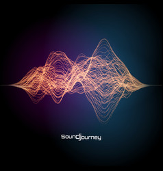 colorful sound or signal design vector image