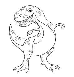 contour drawing a tyrannosaurus dinosaur vector image