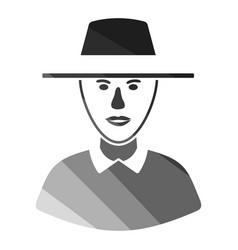 Cricket umpire icon vector