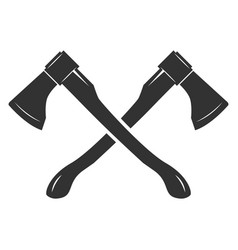 crossed axes isolated on white background vector image