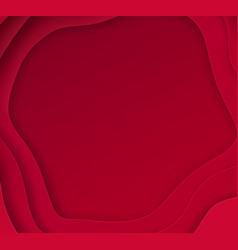 cut paper red background vector image