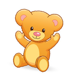 cute cuddly teddy bear vector image