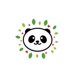 Cute panda on positive baby vector