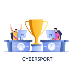 cybersport concept for web banner website vector image