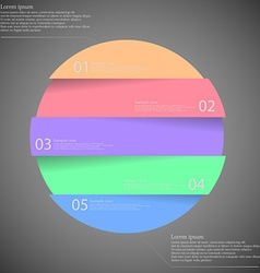 Dark inforgraphic with ring divided to five parts vector