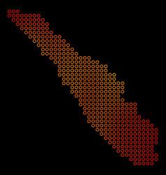 Dot orange sumatra island map vector