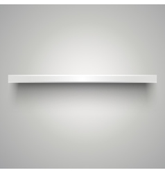 Empty white shelve vector image vector image