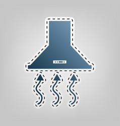 Exhaust hood range hood kitchen ventilation sign vector