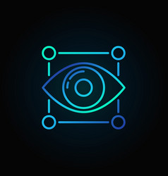 Eye blue icon vector
