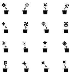 flower icon set vector image