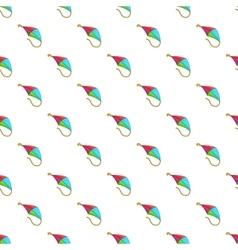 Flying kite pattern cartoon style vector image