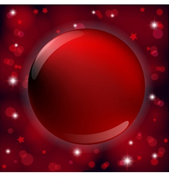frame red round vector image