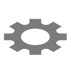 gear wheel icon isometric style vector image