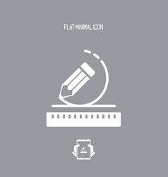 geometric design flat icon vector image
