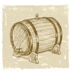 hand drawn wine vector image vector image