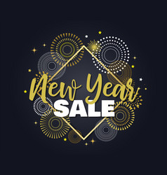 happy new year sale with vector image