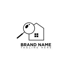 Home search logo design template vector