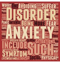 How Is Your Anxiety Today text background vector image