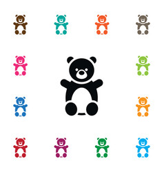 isolated teddy icon doll element can be vector image
