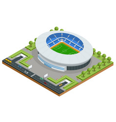 isometric sport stadium football soccer stadium vector image