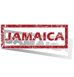 Jamaica outlined stamp vector