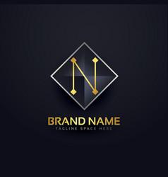Letter n premium logo design template vector