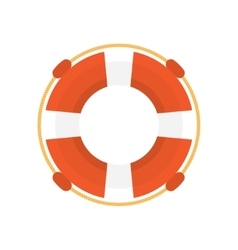 Lifebuoy flat icon vector