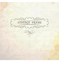 Light vintage background vector image