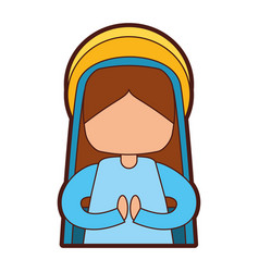 Mary virgin manger character vector