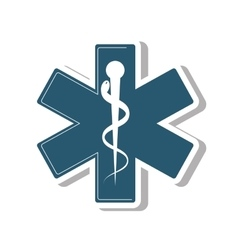 medical symbol isolated icon vector image