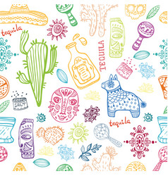 Mexico collection pattern vector