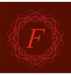 Monogram F vector image