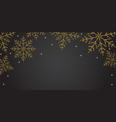 new year horizontal black banner background with vector image