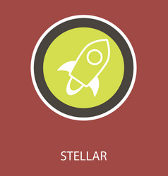 Of stellar xlm cryptocurrency coin virtual money vector